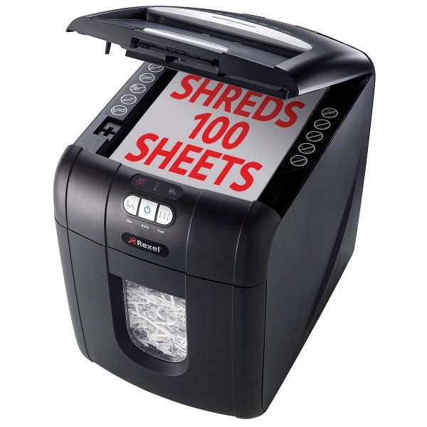 rexel auto 100x shredder shredders direct. Black Bedroom Furniture Sets. Home Design Ideas